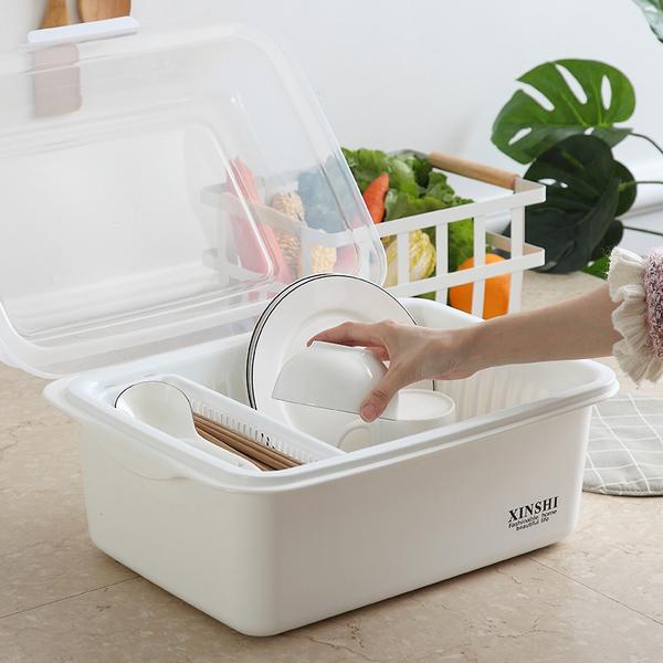碗架 廚房瀝水碗架帶蓋塑膠碗櫃碗筷餐具收納盒放碗碟架滴水碗盤置物架 夢藝家