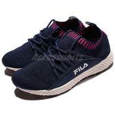 【六折特賣】FILA 慢跑鞋 J307R 襪套式 藍 粉紅 復古奶油底 運動鞋 編織鞋面 女鞋【PUMP306】 5J307R321