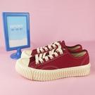 【iSport愛運動】EXCELSIOR 正韓代購 低筒帆布鞋 餅乾鞋 正品 DSM6017CVRE 紅 女款