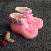 卡通兒童雨鞋女童雨靴子1-2-3歲寶寶水膠鞋男童防滑加絨雨鞋·樂享生活館