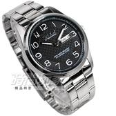 OMAX 時尚城市 數字圓錶 不鏽鋼錶帶 黑色男錶 日期/星期顯示 OMAX4013M黑字 防水手錶