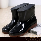 雨鞋女防水短筒水鞋男廚房防滑雨靴耐磨膠鞋【繁星小鎮】