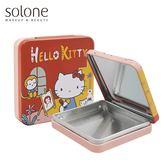 Hello Kitty 紅色小畫家隨身彩盒-4色眼影收納盒