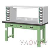 【耀偉】天鋼 橫式三屜(天鋼桌板)工作桌WAT-6203TH7 (工作台,工業桌,機台桌)