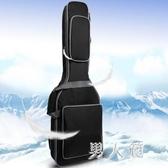 新款琴包電吉他雙肩背包黑海綿加厚個性吉他袋手提電吉他包 zm5003『男人範』TW