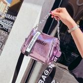 水桶包 水桶包包女2019新款潮韓版百搭手提包單肩斜挎包女包夏季寬帶小包【限時八折】