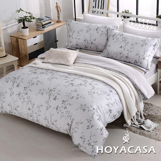 雙人四件式天絲全舖棉兩用被床包組-HOYACASA花雨紛飛