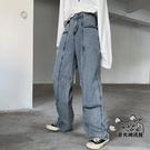 牛仔褲 ins潮流復古戰術輕機能多口袋直筒牛仔褲男女 VK1238