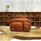 手提包-植鞣皮個性復古街頭有型女側背包3色73sv36[巴黎精品]