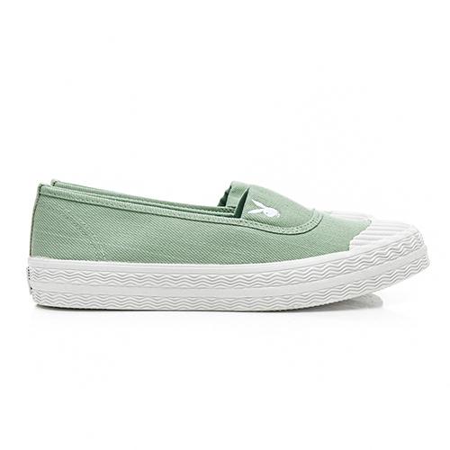 PLAYBOY 簡約丹寧 帆布餅乾鞋-綠(Y5208綠)