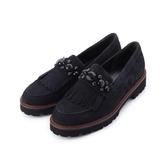 德國GABOR 鑽飾流蘇低跟休閒鞋 藍 91.460.16 女鞋