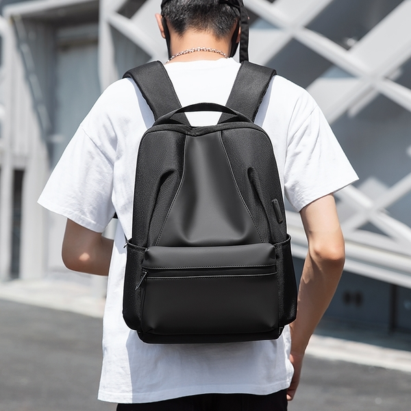 後背包滌綸-黑-暗夜時尚 男包 情人節生日禮物【ARSIM愛型包包】