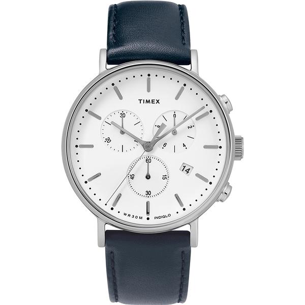 【TIMEX】天美時 復刻系列 簡約復古手錶  (深藍/白TXTW2T32500)