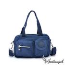 阿卡天使防水尼龍帆布輕旅行手提肩背斜背包(多色)靛寶藍FB833-DB