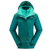 【山水網路商城】美國/北臉/TNF 女 DV HS 兩件式外套/保暖纖維 防水透氣夾克 NF00C923H1H 響亮綠