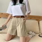 西裝短褲 夏季2021新款高腰西裝短褲潮ins寬鬆休閒直筒闊腿五分工裝褲子女 韓國時尚週 免運