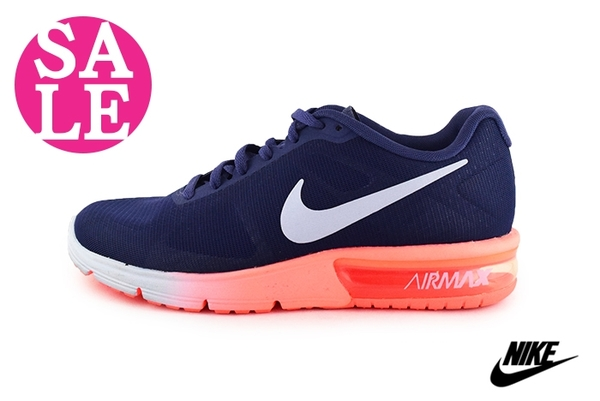 NIKE AIR MAX SEQUENT 運動鞋 女款 氣墊慢跑鞋 N7050藍橘◆OSOME奧森鞋業 零碼出清