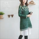 長版衫  繽紛聖誕素面長版毛衣  單色-小C館日系