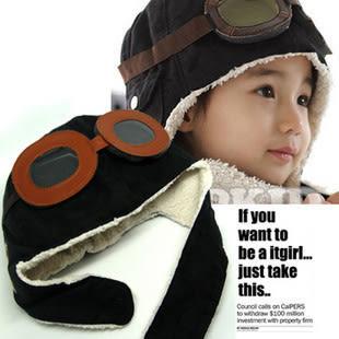 【發現。好貨】超人氣飛行帽韓國兒童飛行帽 空軍帽 保暖帽 護耳帽 兒童帽子 兩色