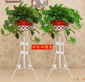 2個裝 落地式花架子室內客廳鐵藝花盆架置物架【毒家貨源】