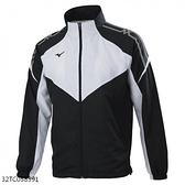 Mizuno [32TC058391] 男女 外套 立領 吸汗 快乾 防潑 舒適 透氣 防風 保暖 黑白