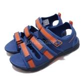 Merrell 涼拖鞋 M-Hydro Creek 藍 橘 童鞋 大童鞋 女鞋 越野 登山 休閒鞋 涼鞋 拖鞋 【ACS】 MK262388