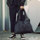 健身包休閒側背包男士斜背包手提旅行包運動包健身包行李包背包潮大容量 雲朵 618購物