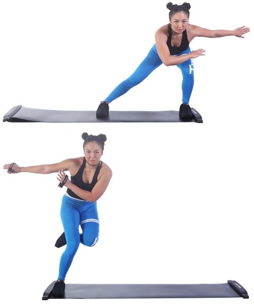 【BALANCE 1】橫向核心肌群訓練 滑步器 豪華版180cm(SLIDING BOARD EX 180cm)-紅