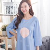 生日快樂居家睡衣洋裝(藍)