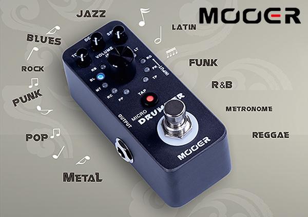 小叮噹的店- MOOER Drum Machine 落地式鼓機 電吉他效果器 (MREG-MD)