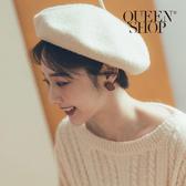 Queen Shop【07030581】簡約方形霧面耳針式耳環*現+預*