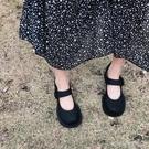 春款復古粗高跟大頭鞋女網紅學院風小皮鞋娃娃單鞋 洛小仙女鞋