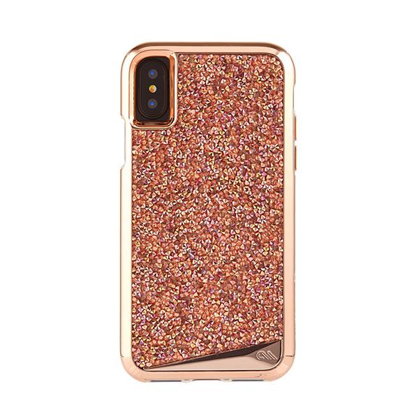 美國 Case-Mate iPhone X Brilliance 時尚水鑽雙層防摔手機保護殼 - 玫瑰金