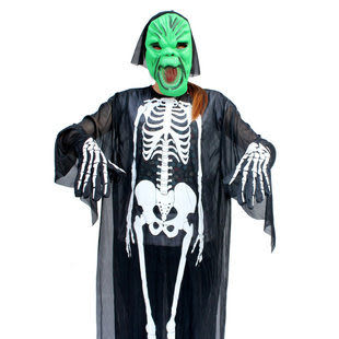 千奇坊 成人兒童 EVA面具 骨架鬼衣服套裝