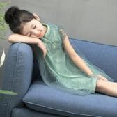 洋裝 女童連衣裙2018新款3夏季4女寶寶旗袍紗裙5兒童短袖6歲復古公主裙【快速出貨八五鉅惠】