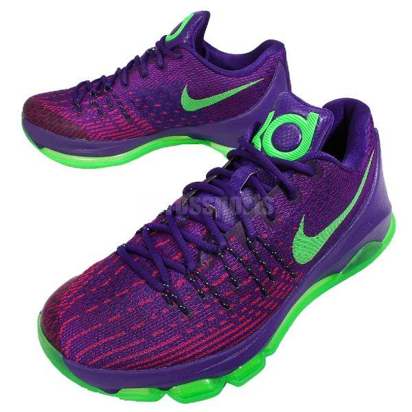 Nike 籃球鞋 KD 8 EP Suit 紫 綠 杜蘭特 運動鞋 男鞋【PUMP306】 800259-535