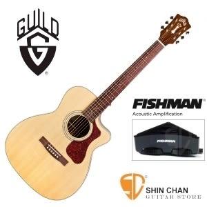 美國經典品牌 Guild OM-140CE 可插電切角全單板吉他/OM桶/Fishman拾音器 附原廠吉他袋