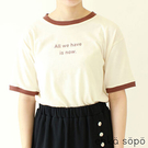 「Summer」配色標語設計短袖T恤 (提醒 SM2僅單一尺寸) - Sm2
