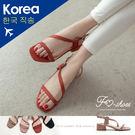 涼鞋.斜繞腳低跟涼鞋-FM時尚美鞋-韓國...