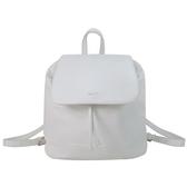 【南紡購物中心】agnes b. 簡單燙銀字軟皮後背包(白)