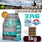 [寵樂子]《美國紐崔斯天然寵糧》INFUSION天然糧系列-室內貓(雞肉)5kg/貓飼料