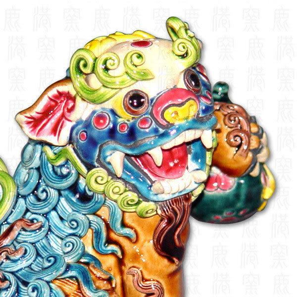 鹿港窯-台灣國寶交趾陶~七巧獅之7葫蘆