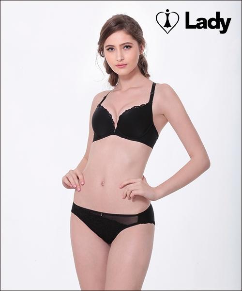LADY 皇室情人系列 B-F罩內衣(絲柔黑)