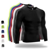緊身衣男跑步訓練健身服高彈力吸汗上衣