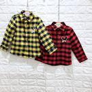 ☆棒棒糖童裝☆(S16029)秋冬男童經典格子款長袖襯衫 5-15  紅;黃