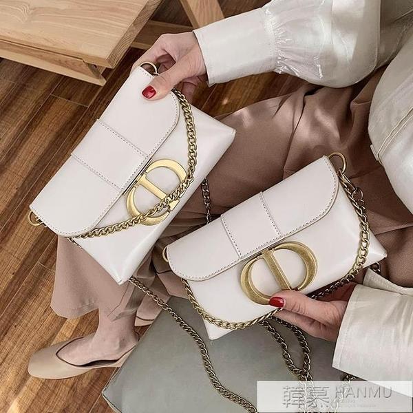 法國小眾夏天小包包女2020網紅新款潮韓版單肩時尚百搭錬條斜背包  4.4超級品牌日
