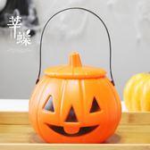莘蝶 萬圣節南瓜燈道具手工兒童手提發光南瓜桶糖果罐燈籠裝飾品