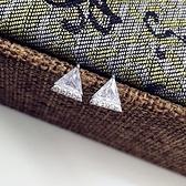 925純銀耳環-鑲鑽簡約三角形時尚百搭生日情人節禮物女飾品73ld6[時尚巴黎]