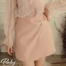 褲裙 側扭結開衩斜紋布褲裙-Ruby s 露比午茶