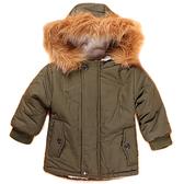 大毛領加厚寶寶外套 羊羔絨兒童連帽大衣 SK008-1 好娃娃